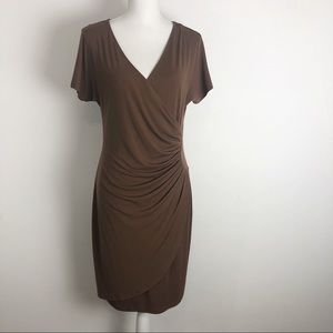 Boston Proper Surplice Wrap Dress Stretch